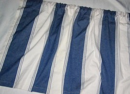 "Pottery Barn Blue White Stripe Cafe Curtain 44 × 24"" Rod Pocket 3 Available - $25.00"