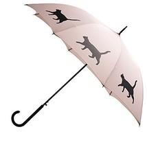Cat Premium Rain Umbrella Warm Taupe/Black By San Francisco Umbrella Co. - $35.25