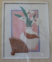 1986 Creative Circle Candlewick Embroidery Calla Lilies Craft Sew Kit 16 x 20 - $17.99