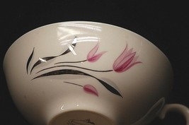 "Old Vintage Carmel by Franciscan 2"" Flat Cup Pink & Gray Center Flowers - $8.90"