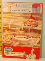 1966 St. Louis Cardinals Baseball Program Scorecard v Dodgers  #BB - $38.61