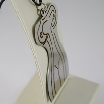 STAINLESS STEEL WOMAN BODY PENDANT CHARMS, FINELY ENGRAVED, BY KATIA D'ANGELO image 2