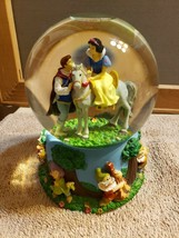 Disney Musical Snow Globe Snowglobe Snow White and Her Prince On a Horse - $49.49
