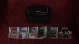 gameboy advance case+6 game books no games - $6.62