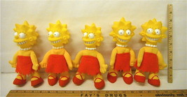 Lot of 5 Vintage 1990 Lisa Simpson Plush Vinyl Dolls Burger King Premium  - $11.74