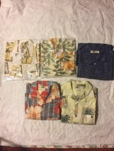 Lot 5 Hawaiian Shirts Men's Joe Marlin SZ:L New - $126.72