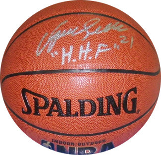 Dominique Wilkins signed Indoor/Outdoor NBA TB Basketball HHF (Human Highlight F