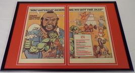 1983 NBC Saturday Cartoons 12x18 Framed Vintage Advertising Display Spid... - $65.09