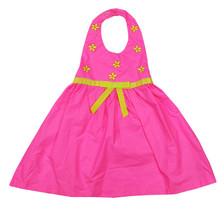 BLUEBERI BOULEVARD NEW INFANT GIRLS PINK COTTON OPEN-BACK WOVEN DRESS 24M - $14.84
