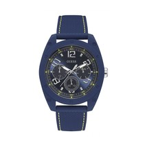 Guess - Men's Stainless Steel Blue Watch - £139.73 GBP