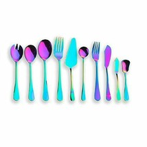 Titanium Colorful Plated, Multicolor Stainless Steel H. Serving Set 10 P... - $25.84