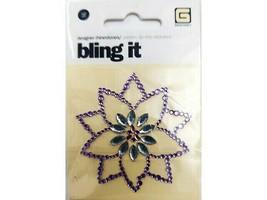 BasicGrey Bling It Designer Rhinestone Purple Flower Sticker #BLI-2295