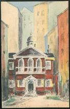 Carpenters Hall Philadelphia PA Artist signed Helen L Woerner 1930 Postcard - $9.95