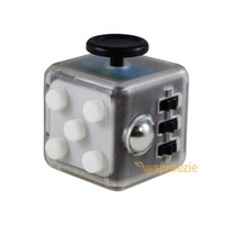 CLEAR White Fidget Cube Toy Anxiety Stress Relief Focus Attention Work P... - $6.99