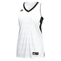 Adidas Commander 15 Womens Basketball Jersey L White-Black - $45.44