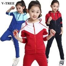 V-TREE Girls Clothing Sets Zipper Coat+pants Sport Suit For Teenagers Sp... - $43.56+