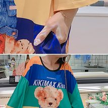Maternity Dress Cartoon Lovely Bear Pattern O Neck Loose Comfy Dress image 5