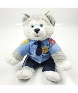 "Build A Bear Siberian Husky 18"" in Build a Bear Police Dept Uniform Sitt... - $24.06"