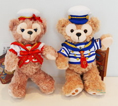2015 Disney sea Duffy & Sherry May Plush doll Stuffed toy badge with Sai... - $72.27