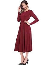 Leadingstar Women's A-line Casual Party Variety Occasion Dress Burgundy, XL - $27.76