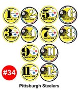 Monthly Infant Stickers - PITT FOOTBALL Baby Month Onesie Stickers Baby ... - $11.69