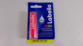 Labello ORIGINAL NEON: Pink lip balm/ chapstick -1 pack - Made in Germany - $4.85