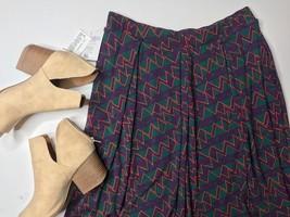 LuLaRoe NWT Madison Pocket Skirt XL Purple Green Yellow - $39.99