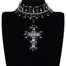 Fashion Jewelry Acrylic Crystal Alloy Choker Necklace - $27.22