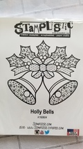 Holly Bells.  Stamplistic Layering Stamps. Stained Glass.  CLEARANCE image 2