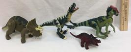 Jurassic Park Dinosaur Figurines 1997 Site B Jointed Mixed Lot of 3 Plus Bonus - $28.70