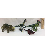 Jurassic Park Dinosaur Figurines 1997 Site B Jointed Mixed Lot of 3 Plus... - $28.70