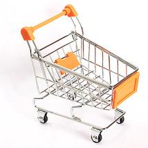 (orange)Mini Supermarket Handcart Trolley Shopping Utility Cart Phone Holder Off - $18.00