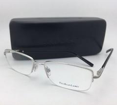 New POLO RALPH LAUREN Eyeglasses PH 1088 9001 55-17 140 Silver & Black Frame