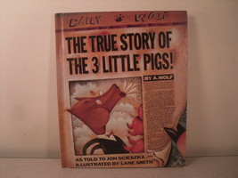 The True Story of the Three Little Pigs - Jon Scieszka 1989 HC Picture Book - $7.14