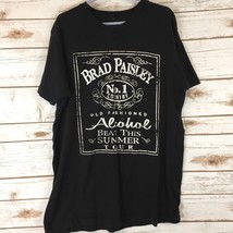 Brad Paisley Concert T-Shirt Country Nation Tour Alcohol Black Size Medi... - $17.73