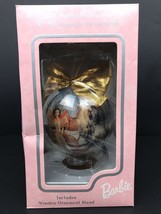 """NIB Vintage Mattel 1997 Holiday Barbie 4"""" Decoupage Ornament With Wooden... - $18.70"""