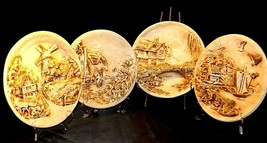 Four Hand painted Plates of Holland AA20-7054 Vintage Collectible