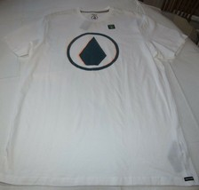 Men's Volcom short sleeve t shirt Modern Fit L Burnt s/s TEE white A5031700 - $21.70