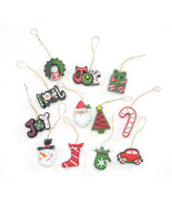 HOLIDAY CRAFT Resin Ornaments - Christmas Symbols - 1.5 inches - 12 PC #... - $0.99