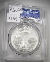 2010 Silver American Eagle PCGS MS70 David Hall Certified Coin AG608 - $140.19