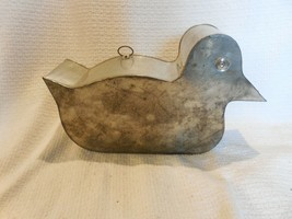 Antique Soldered Tin Duck Cake Mold - $49.45
