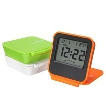 Foldable LCD Digital Travel Desk Alarm Clock Snooze Date Day Thermometer - $15.30 CAD