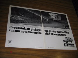 1967 Print Ad GMC Pickup Truck with Camper Top Mountain Road - $12.90