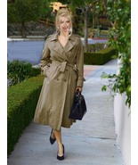 Burberry Prorsum Full Length Gabardine Trench Coat w Removable Collar & ... - $425.00