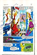 1984 Iron Man 181 page 4 original Marvel Comics color guide comic art: 1... - $99.50