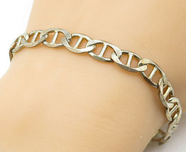 925 Sterling Silver - Vintage Shiny Anchor Link Style Chain Bracelet - B... - $42.09