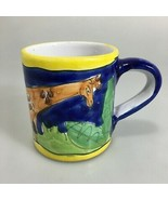 Starbucks Giraffe Coffee Tea Cup Mug Made in Italy 8 oz Handpainted - $22.05