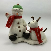 Hallmark Jingle Pals Plush Snowman and Dog 2004 DOESN'T WORK DECOR ONLY - $24.99