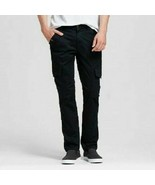 Mossimo Supply Co Mens Size 38 X 32 Black Cargo Pants Stretch NWT - $14.94