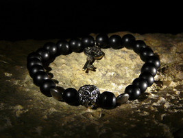 The Key Of Ultimate Success Rare Russian Healing Shungite Bracelet Izida Haunted - $222.00